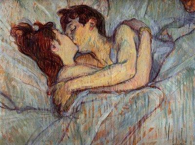 Toulouse-lautrec - le baiser 1892